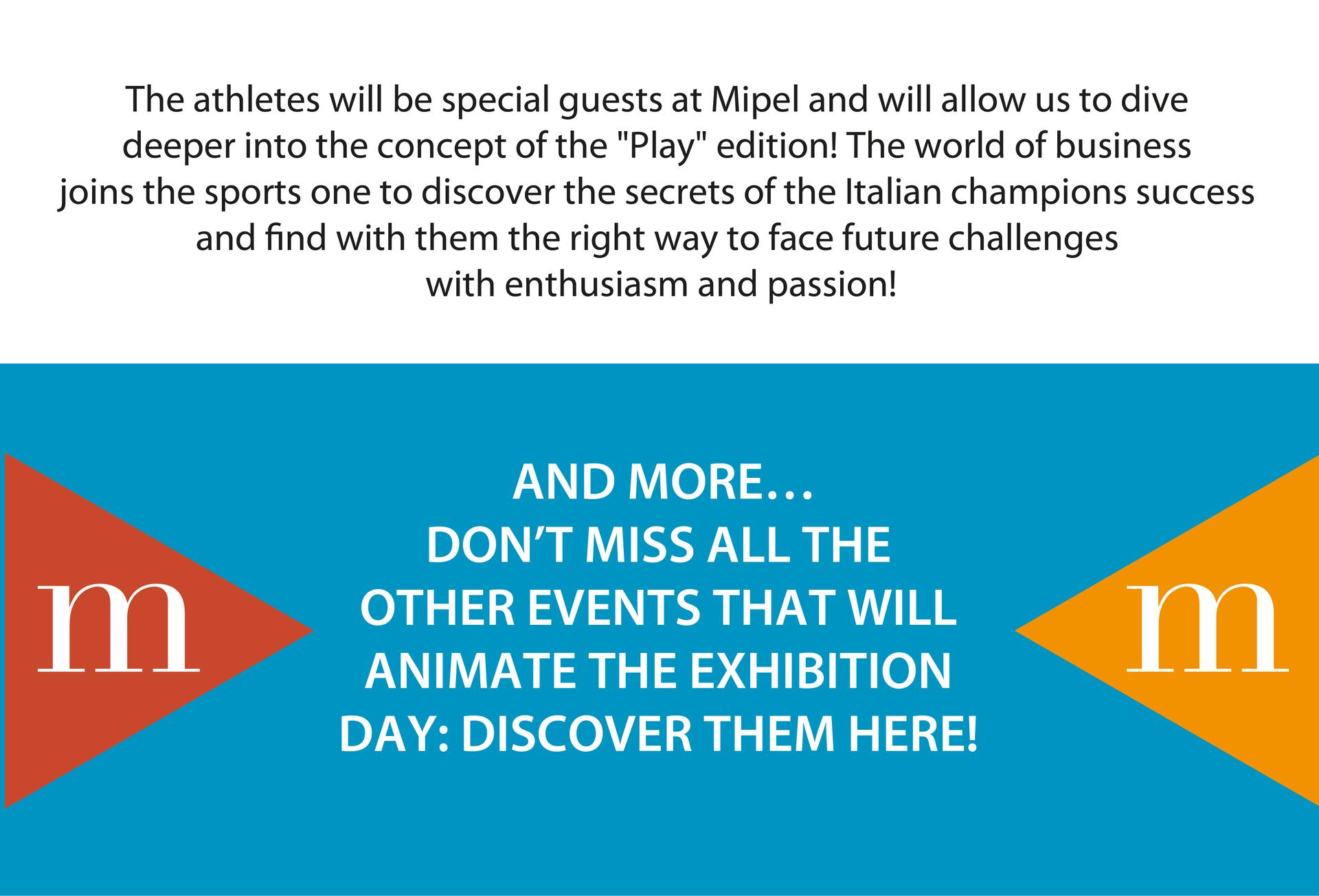 DON'T MISS ALL THE OTHER EVENTS THAT WILL ANIMATE THE EXHIBITION, DISCOVER THEM IN THE FOLLOWING CALENDAR